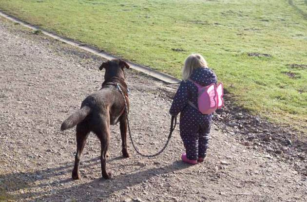 Little Girl With Dog (2)