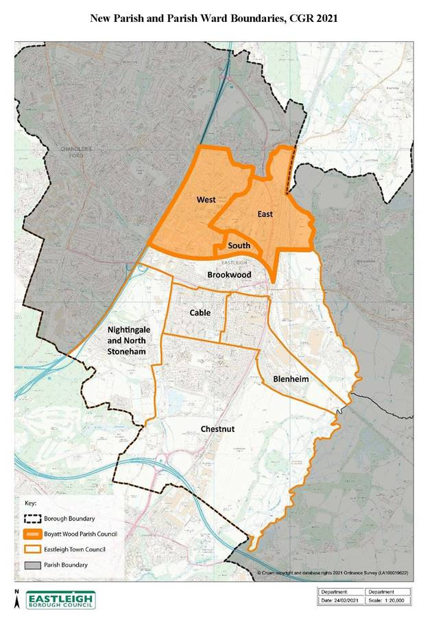 CGR 2021 Map Of Boyatt Wood Parish Council And Eastleigh Town Council (1)