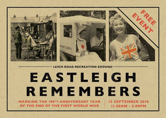 Eastleigh Remembers event advert 2018