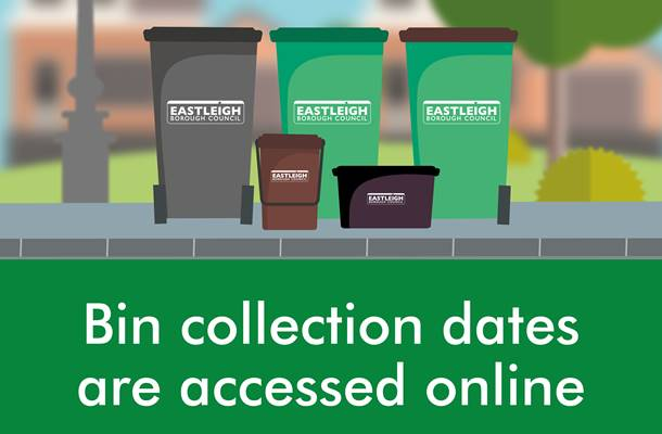 Bin collection dates are accessed online